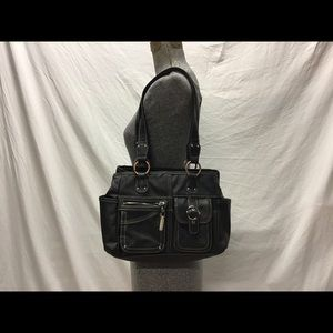 Soft black leather like Rosetti bag,